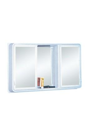 2 Kapılı İç Aynalı Banyo Dolabı Beyaz