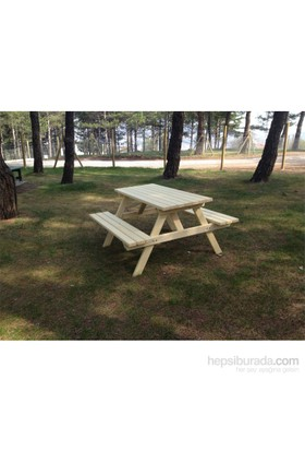 Garden 8 Kişilik Piknik Masası Naturel