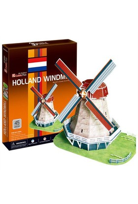 Cubic Fun Puzzle Holland Windmill (3 Boyutlu)