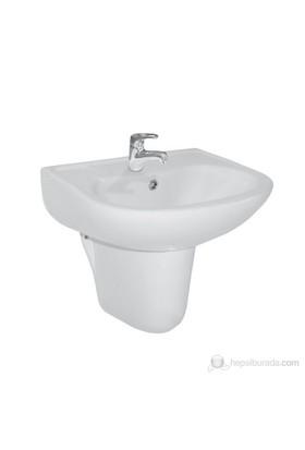 Ece Banyo Yarım Ayaklı Lavabo 51 cm ( Batarya Delikli )