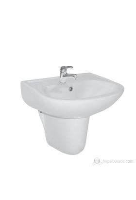 Ece Banyo Yarım Ayaklı Lavabo 51cm ( Batarya Deliksiz)