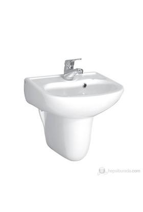 Ece Banyo Yarım Ayaklı Lavabo 45cm ( Batarya Delikli)