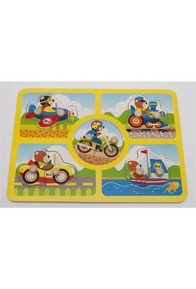 Hongji Ahşap 98266 Puzzle 2 Parça Pimli Bohj98266