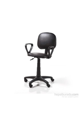 Vural Sekreter Ofis Bilgisayar Koltuğu Sandalyesi-Siyah