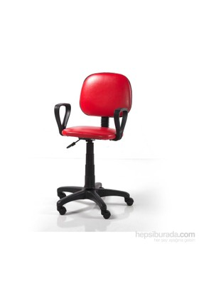 Vural Sekreter Ofis Bilgisayar Koltuğu Sandalyesi-Kırmızı