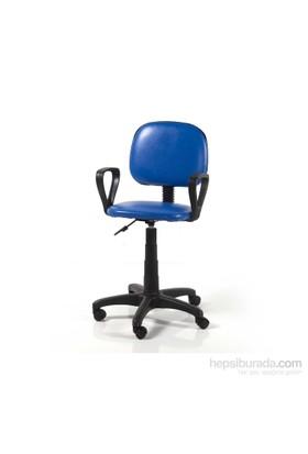 Vural Sekreter Ofis Bilgisayar Koltuğu Sandalyesi-Mavi