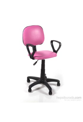 Vural Sekreter Ofis Bilgisayar Koltuğu Sandalyesi-Pembe
