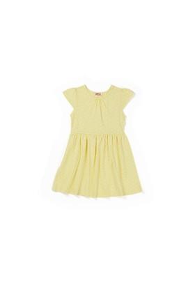 Zeyland Kız Çocuk Sarı Kalpli Elbise - K-61KL5231