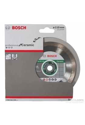 Bosch - Standard Seri Seramik İçin Elmas Kesme Diski - 110 X 22,23 X 1,6 X 7,5 Mm