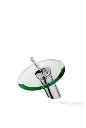 Aquamix Yuvarlak Cam Lavabo Bataryası