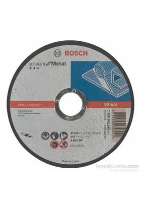 Bosch - Standard Seri Metal İçin Düz Kesme Diski (Taş) - A 60 T Bf, 125 Mm, 22,23 Mm, 1,6 Mm