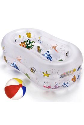 Cosfer Çocuk Havuzu Ve Deniz Topu Seti (Oval Çocuk Havuzu-Deniz Plaj Topu HS-3266