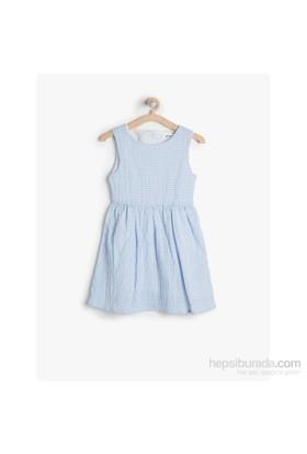 Koton Mavi Elbise Kısa Kol