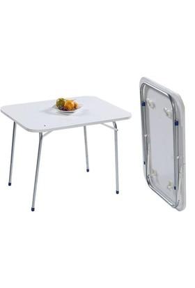 Muhtelif Beyaz Katlanır Kırma Piknik Balkon Masası - 60x80 cm