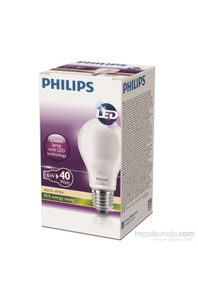 Philips LED Ampul 6W (40W) E27 Sarı Işık