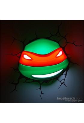 3D Lisanslı Ninja Kaplumbağalar Raphael Maske Gece Lambası