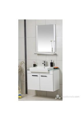 Öykü 80 Cm Banyo Dolabı - Beyaz