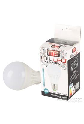 Milled Led Ampul E27 9W 10 Adet - Beyaz Işık