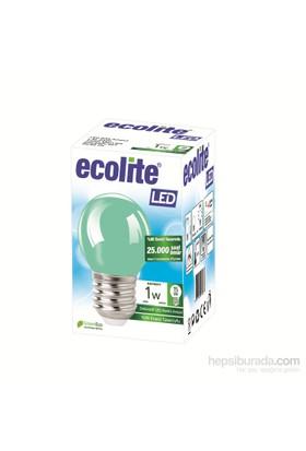 Ecolıte Led Renkli Ampul 1W E27 Yeşil Işık