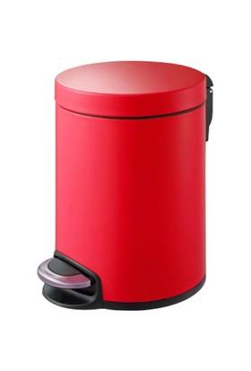 Primanova Pedallı Softclose Çöp Kovası Kırmızı 5 Lt D-15292