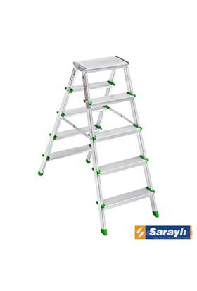 Saraylı Çif Taraflı Alüminyum Merdiven 5+5