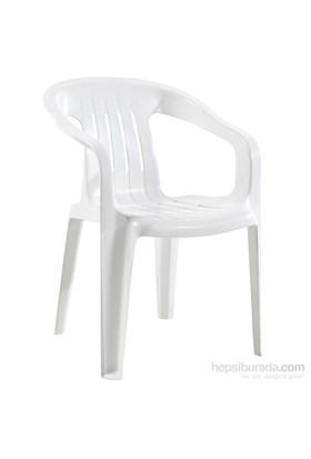 Papatya Elit Koltuk Plastik Beyaz