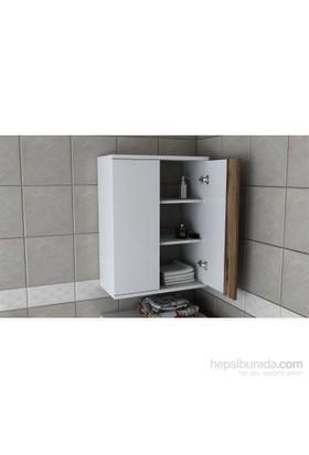 Sanal Mobilya Zen Çamaşır Makinesi Üst Dolabı Beyaz
