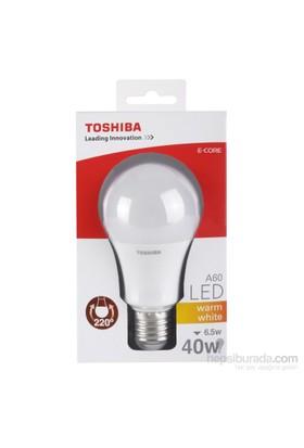 Toshiba 6.5W(40W) Klasik Tip 470Lm Standart(E27) Duylu Sarı Led Lamba
