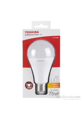 Toshiba 12W(75W) Klasik Tip 1.055Lm Standart(E27) Duylu Sarı Led Lamba