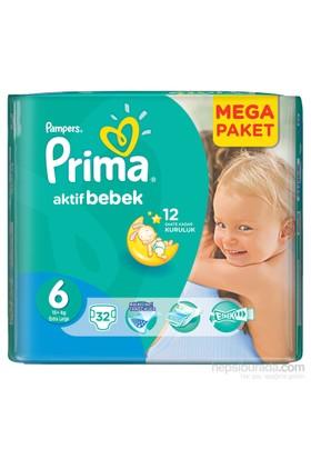 Prima Bebek Bezi Aktif Bebek Mega Paket 6 Beden 34 Adet