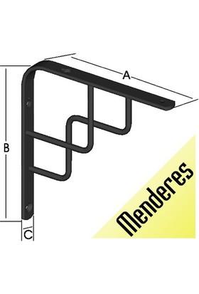 ER-MO Dekoratif Rafaltı Menderes 15cm*15cm Siyah (2'li Paket)