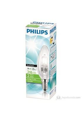 Philips EkoKlasik Tasarruflu Ampul 28W E14 230V B35 CL 1CT/30 - Sarı Işık