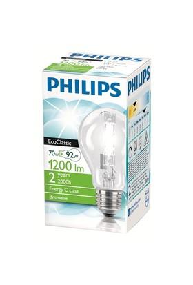 Philips EkoKlasik Tasarruflu Ampul 70W E27 230V A60 CL 1CT/30 - Sarı Işık