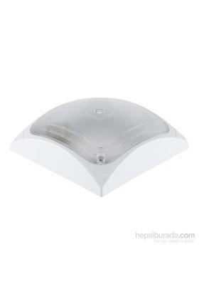 Tuğbasan Kare-1 Küçük Plastik Tavan Armatürü Beyaz