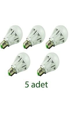 Odalight 7W Enerji Led Ampul Gün Işığı 5'Li Paket