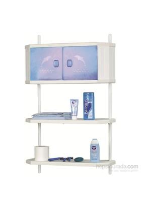 Doğuş Pololüx Banyo Dolap Ve Raf Sistemi-Mavi