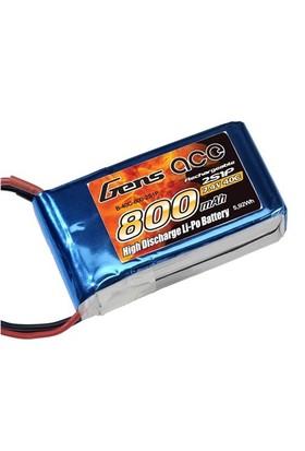 Gens Ace 800Mah 7.4V 40C 2S1p Lipo Batarya