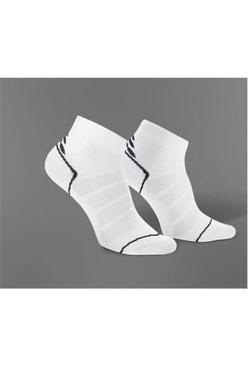 Gabriel Najdorf Kısa Beyaz Spor Çorap