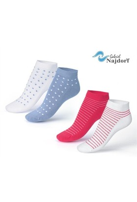 Gabriel Najdorf Kısa Spor Çorap 4'Lü Takım