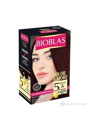 Bioblas 5.5 Açık Kestane Akaju 50 Ml. Saç Boyası