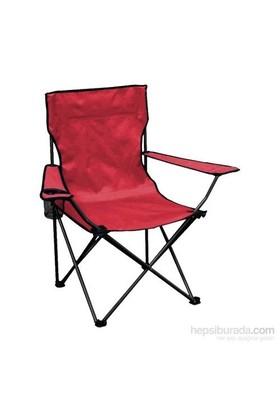 Katlanır Kamp Sandalyesi Kırmızı