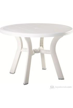 Siesta 146 Truva 105 Cm Yuvarlak Masa Beyaz