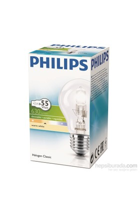 Philips Ecoclassic 42W Ampul E27 230V A55 1Ct/15 Srp