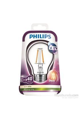 Philips Led Filament 40W A++ Enerji Tasarruflu Ampul E27 Ww A60 Cl Nd/4