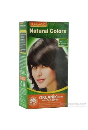 Organic Natural Colors 6C Koyu Küllü Kumral Saç Boyası