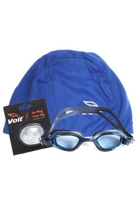 Povit Gs3 Yüzücü Gözlüğü Voit Bez Bone Voit Kulak Burun Tıkacı