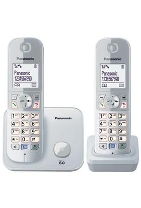 Panasonic Dect Telefon KX-TG6812 Duo Beyaz