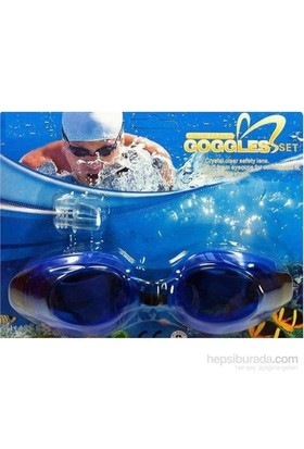 Vardem Kulak Tıkaçlı Yüzücü Gözlüğü (Mavi) 2088A