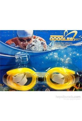 Vardem Kulak Tıkaçlı Yüzücü Gözlüğü (Sarı) 2088A