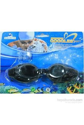 Vardem Kulak Tıkaçlı Siyah Yüzücü Gözlüğü 2088A